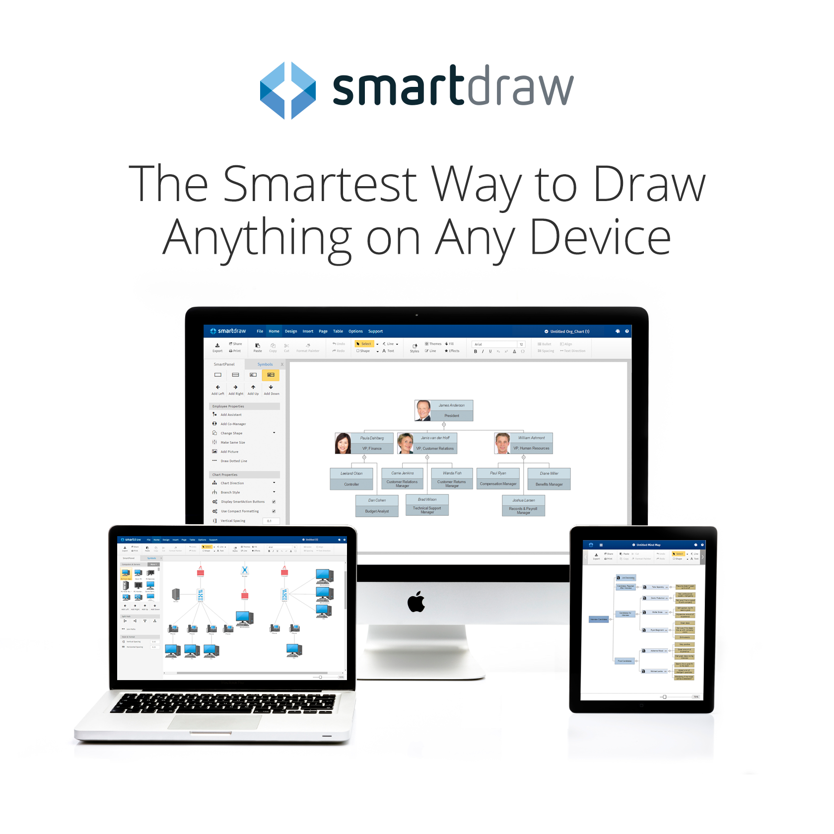 SmartDraw on Mac with logo