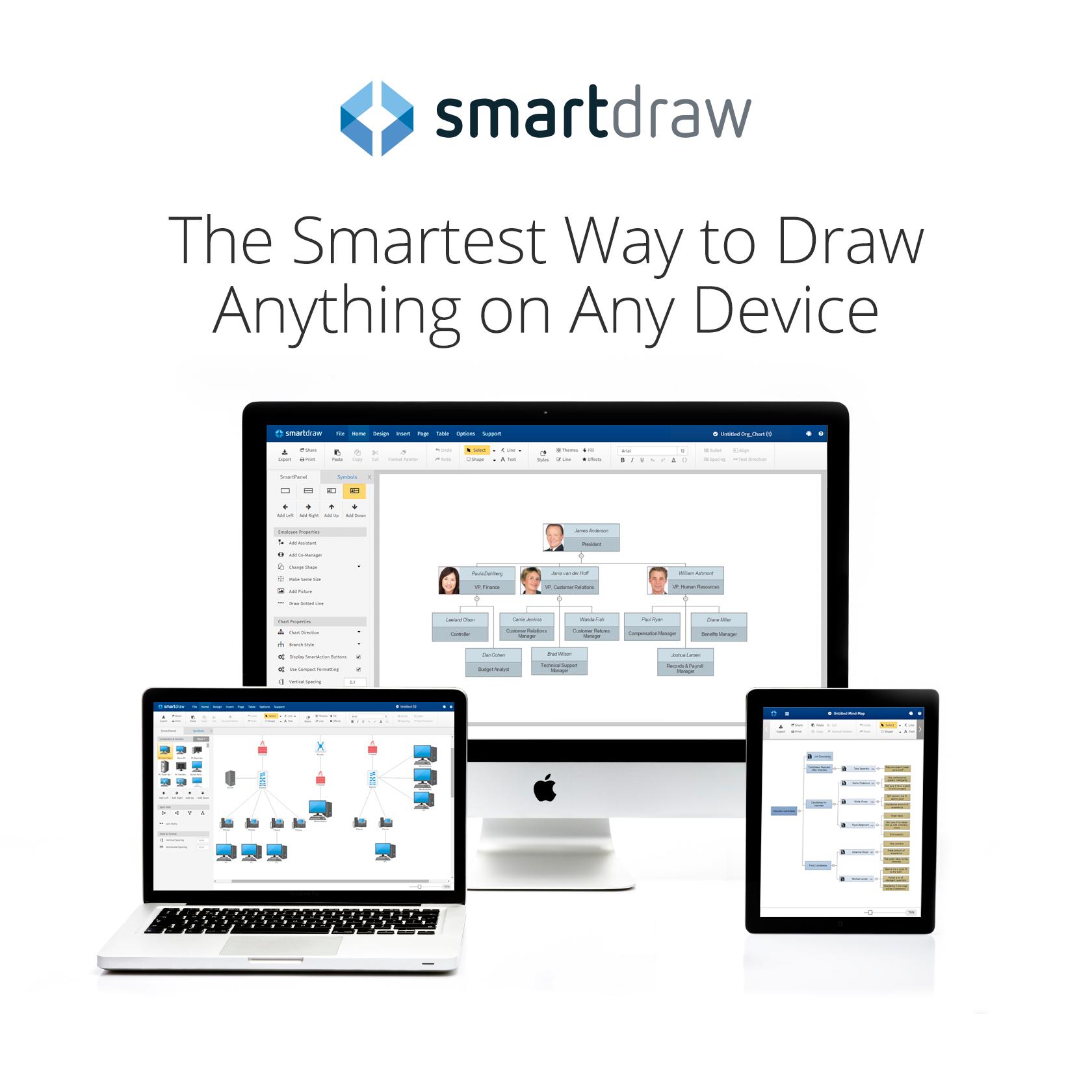 SmartDraw Cloud on Mac with logo