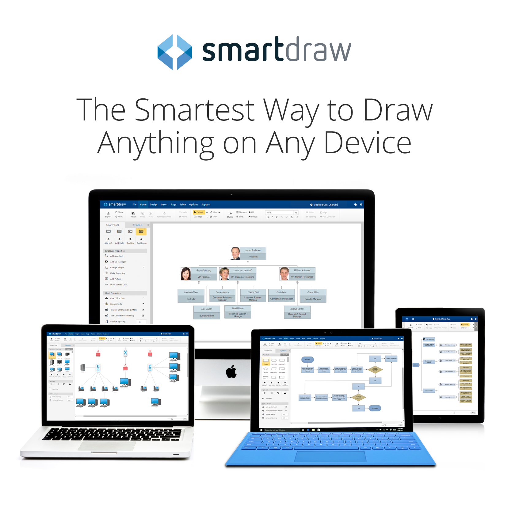 SmartDraw on multiple devices with logo