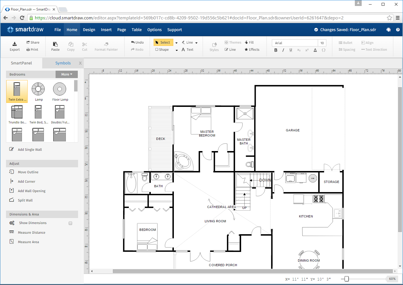 Visio Floor Plan Scale Logos Amp Images Smartdraw Software