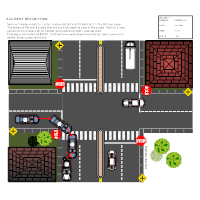 4-Way Intersection Accident Reconstruction