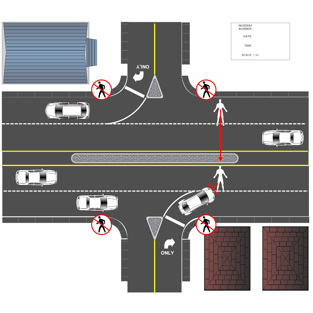 Example Image: Crossing Road Accident Reconstruction