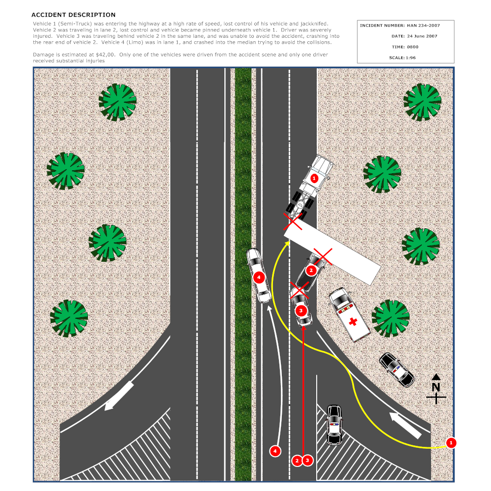Example Image: Highway Accident Reconstruction