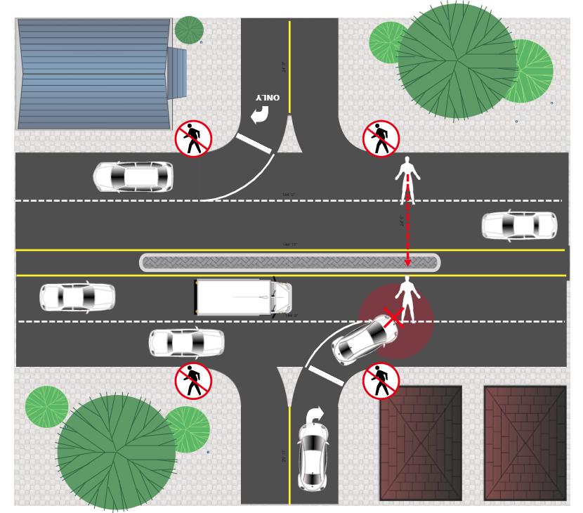 Accident reconstruction diagram example