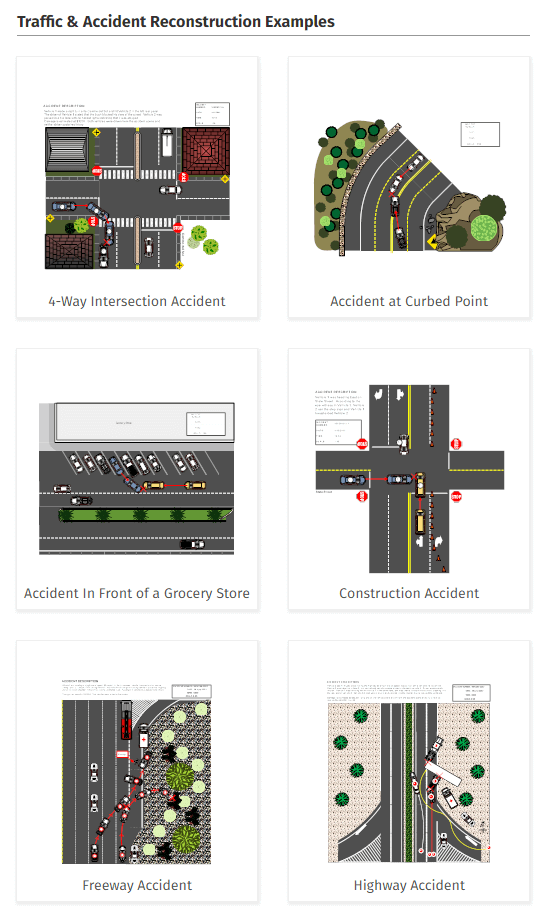 accident reconstruction diagram software free online app or download Diagram of Street Car Accident accident reconstruction example
