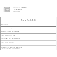 Cost of Goods Sold Form