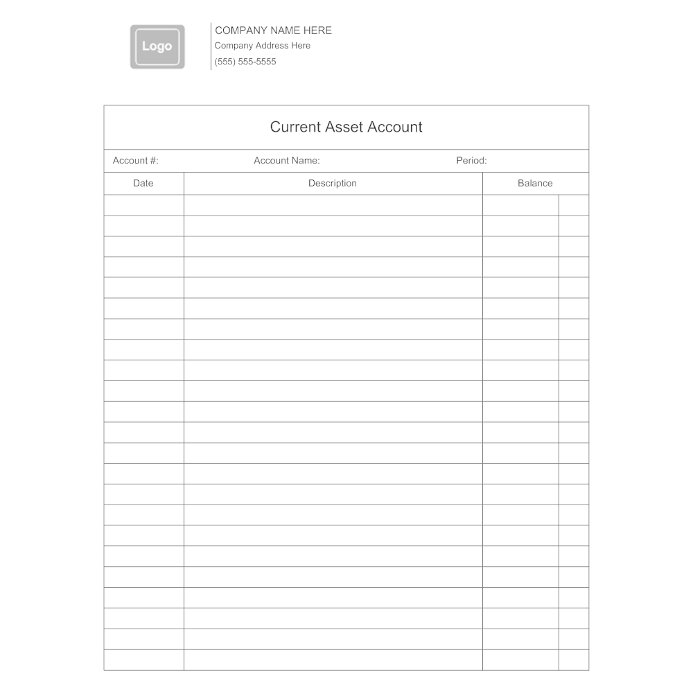 Example Image: Current Asset Accounting Form