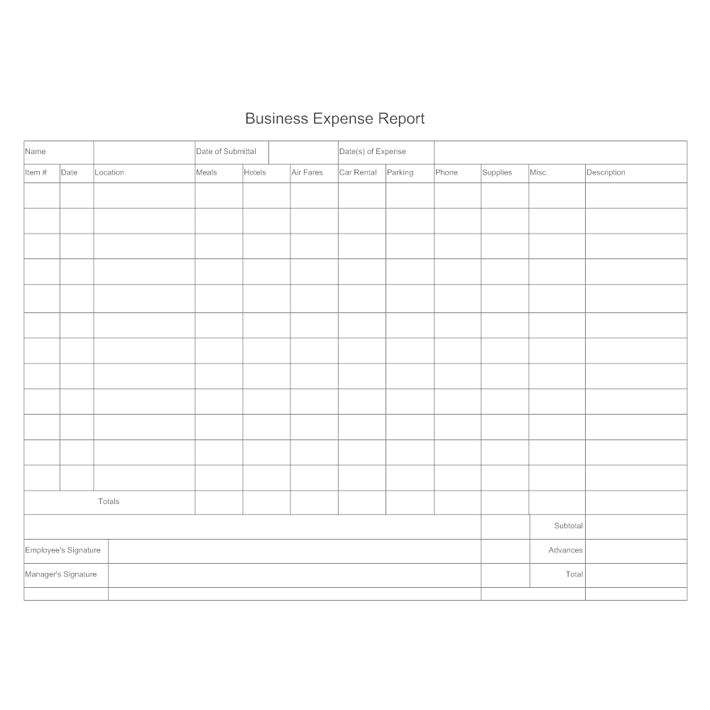 Example Image: Expense Report
