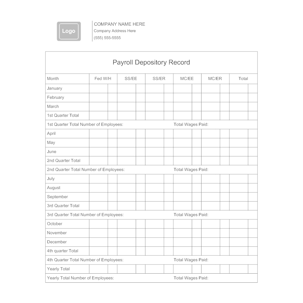 Example Image: Payroll Depository Record