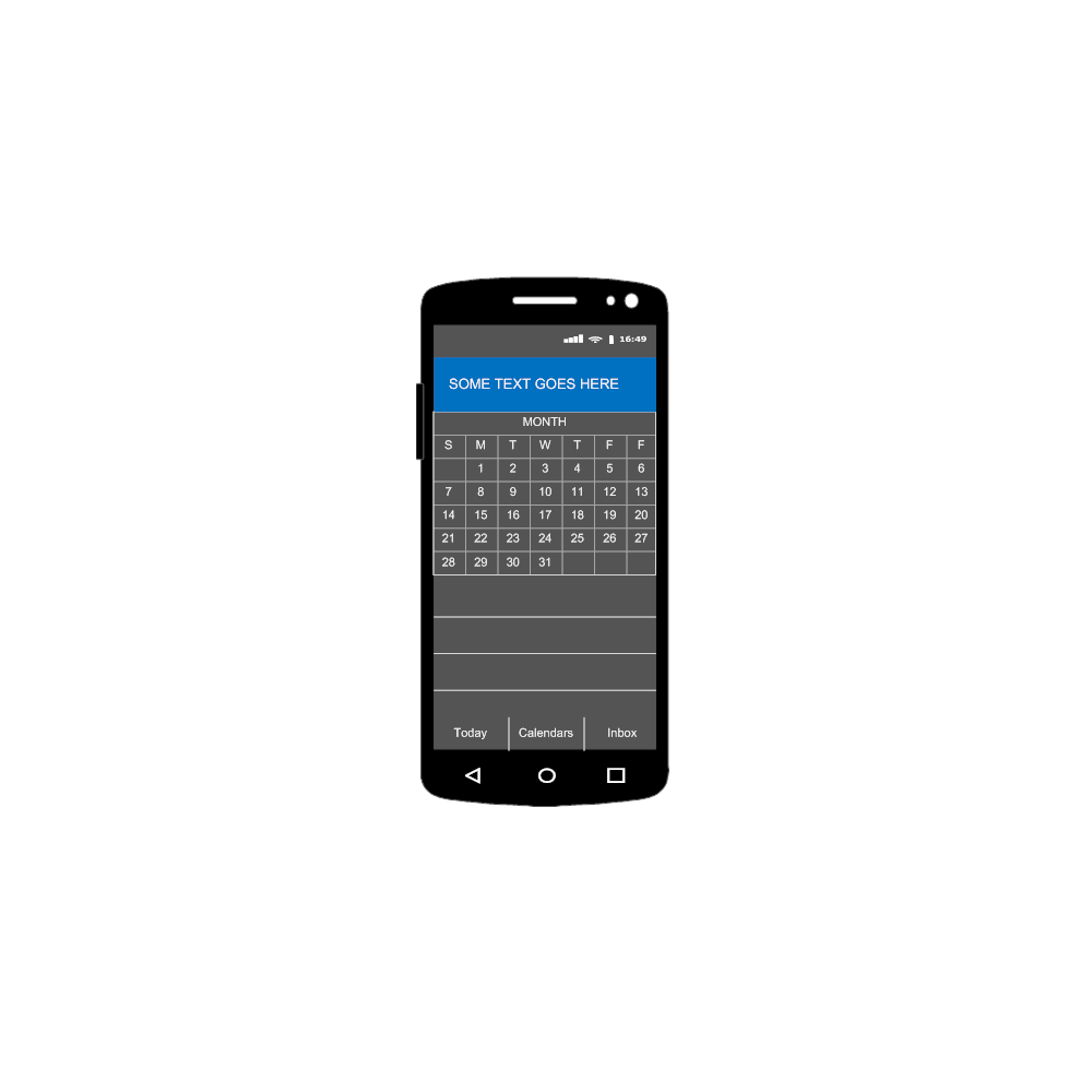 Example Image: Android - Calendar - 1