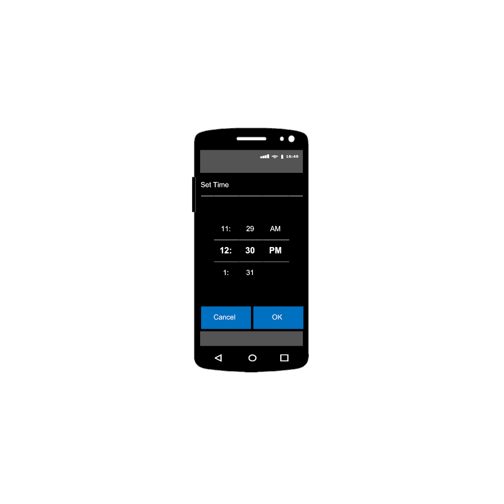 Example Image: Android - New Entry