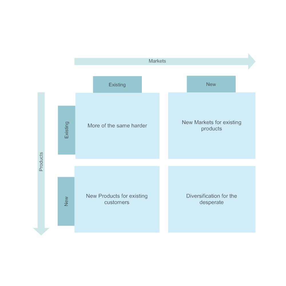 Example Image: Ansoff Matrix Example