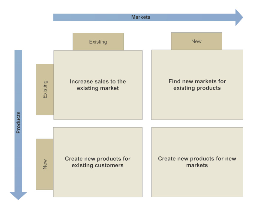 Ansoff matrix template