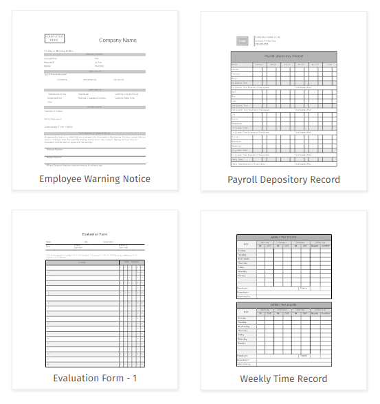 payroll forms for employees