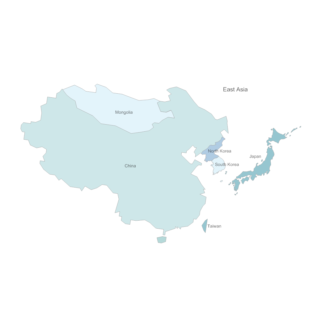 Example Image: East Asia Map