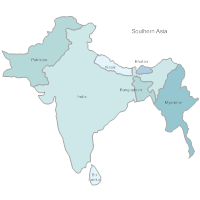 Southern Asia Map