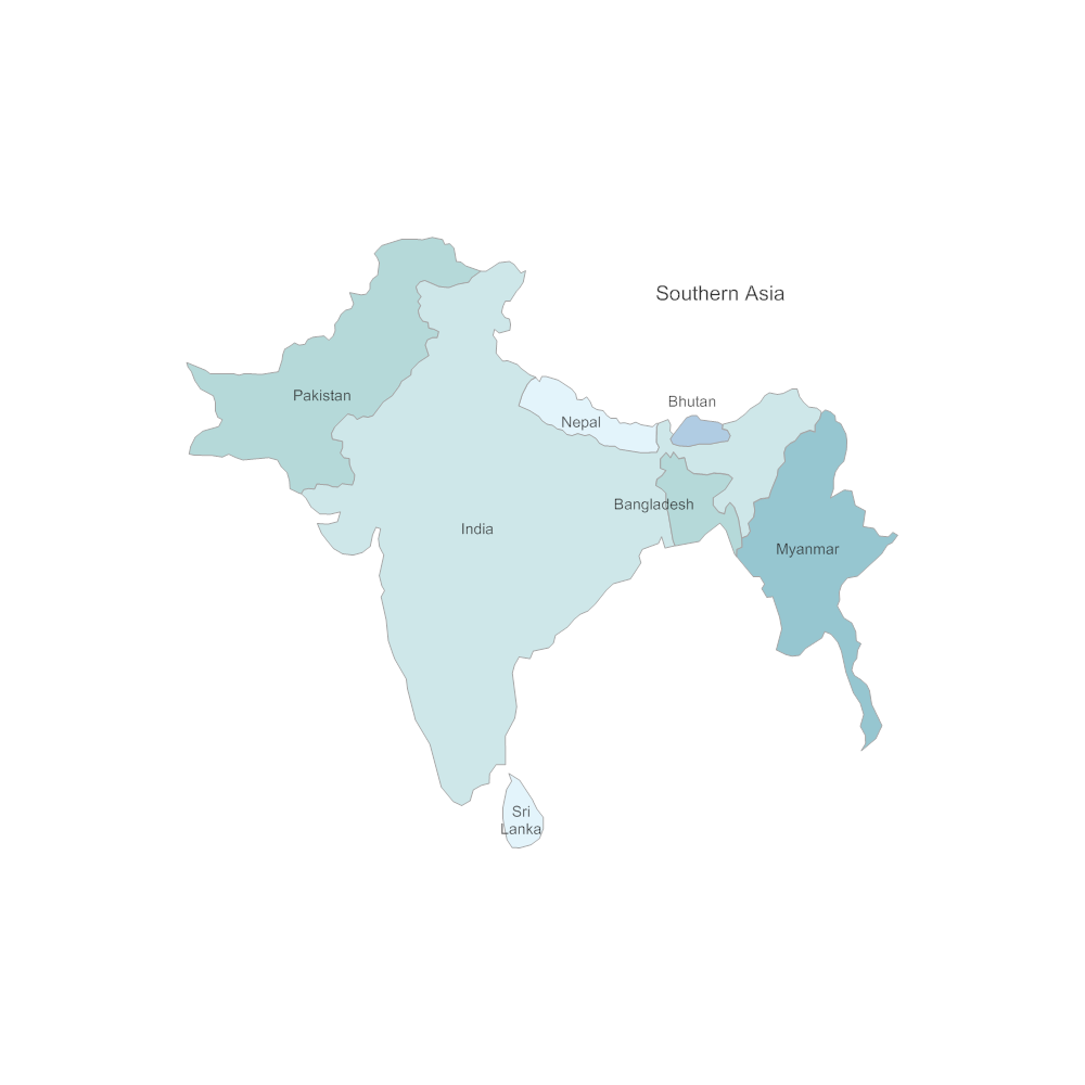 Example Image: Southern Asia Map