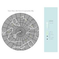 North Polar Constellation Astronomy Chart