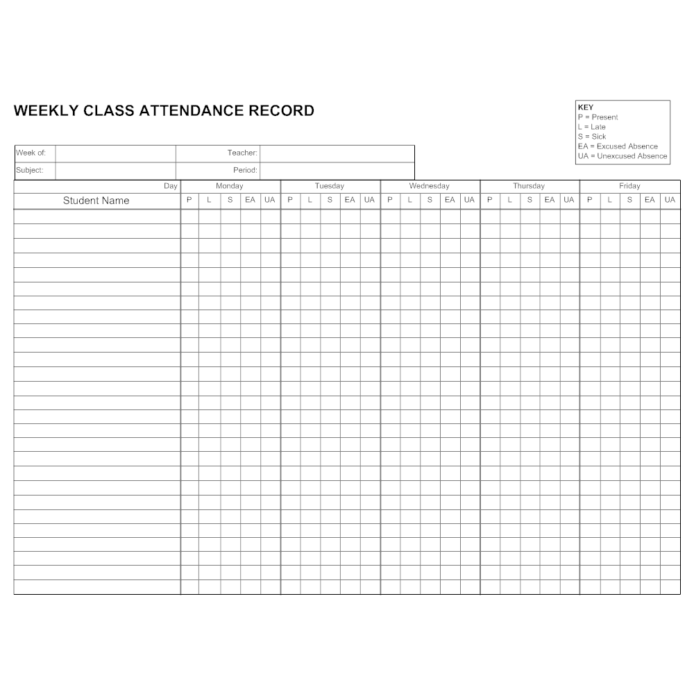 Example Image: Attendance Record