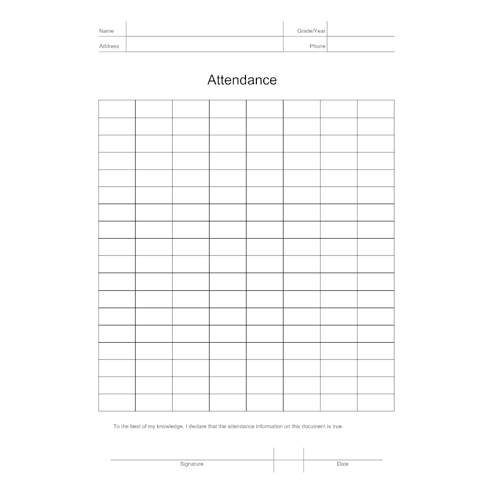 Example Image: Attendance Sheet