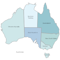 Australia New Zealand Map.Australia And New Zealand Map Templates