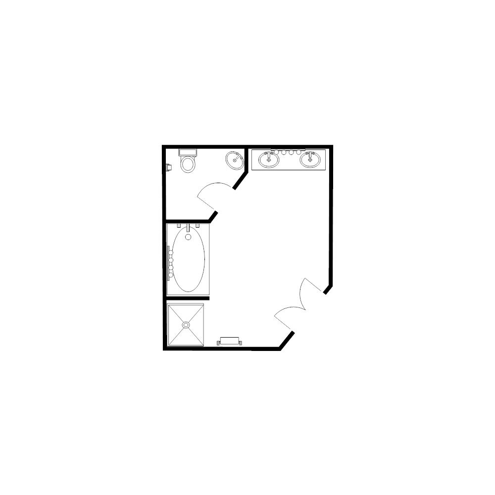 Example Image: Bathroom Floor Plan