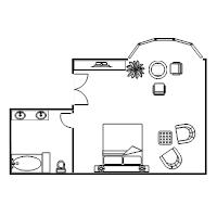 Simple Bedroom Blueprint floor plan examples