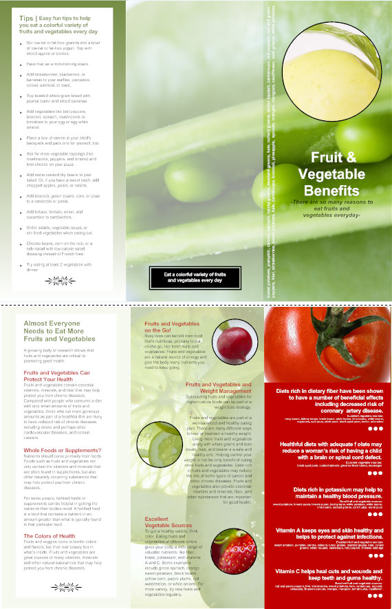 Fruit and Vegetable Benefits Brochure