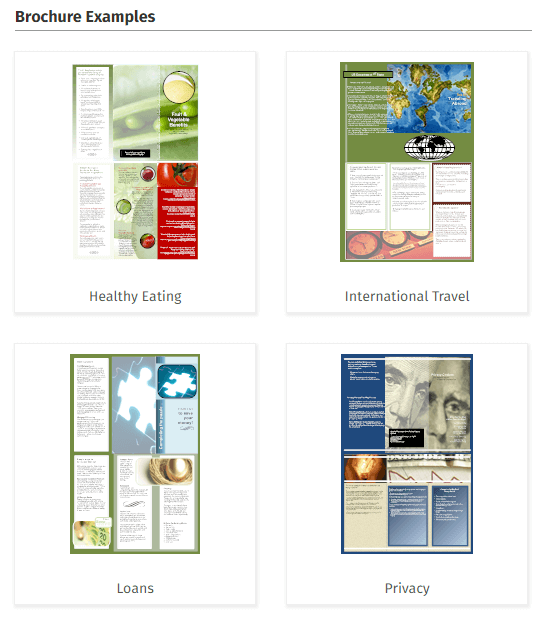 Brochure design software online brochure designer download for Software for designing brochures