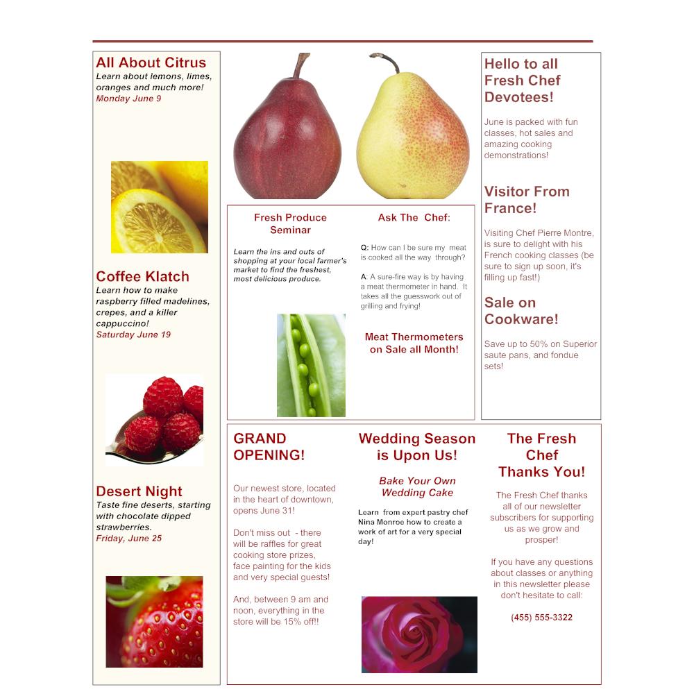 Example Image: Cooking School Brochure