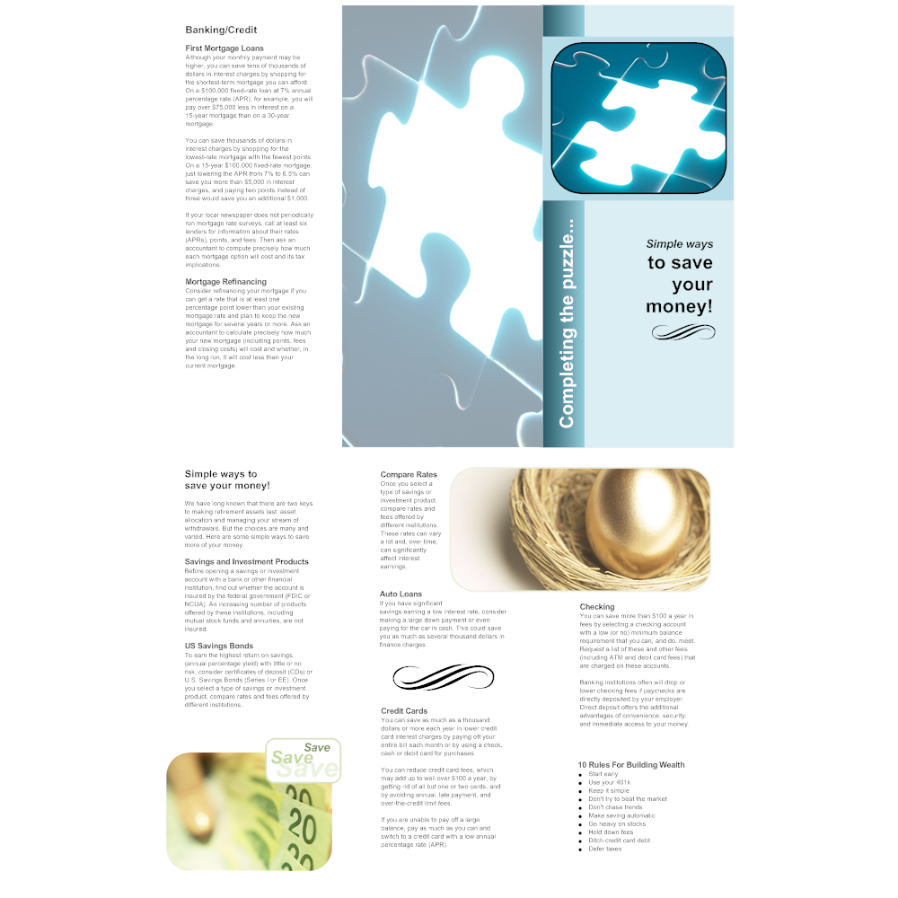 Example Image: Financial Brochure