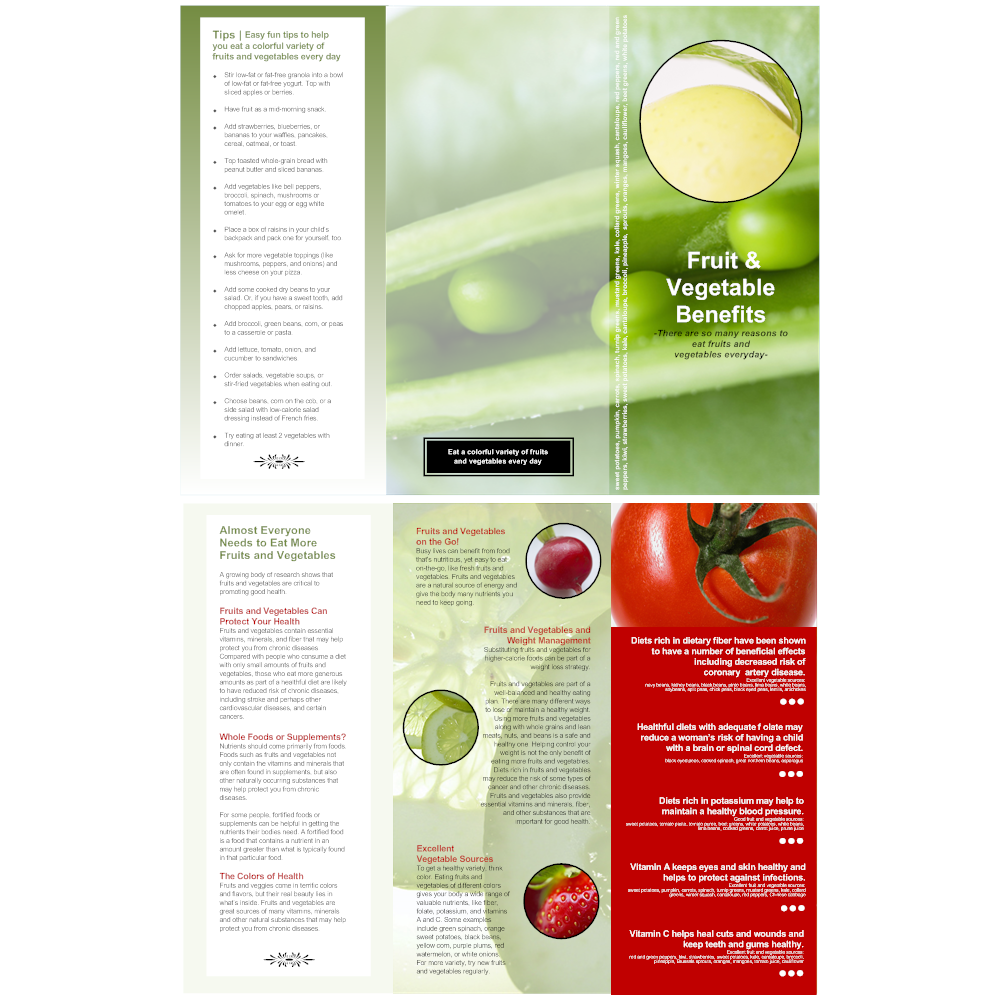 Example Image: Healthy Eating Brochure
