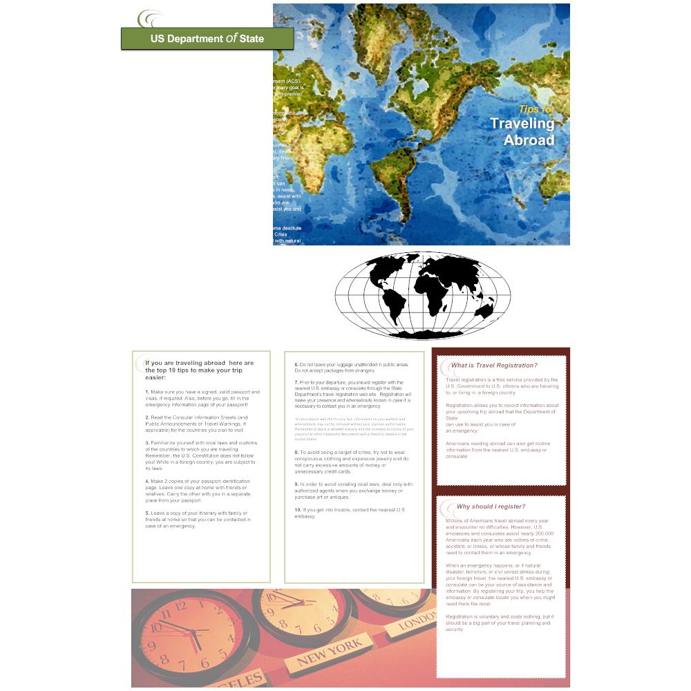Example Image: International Travel Brochure