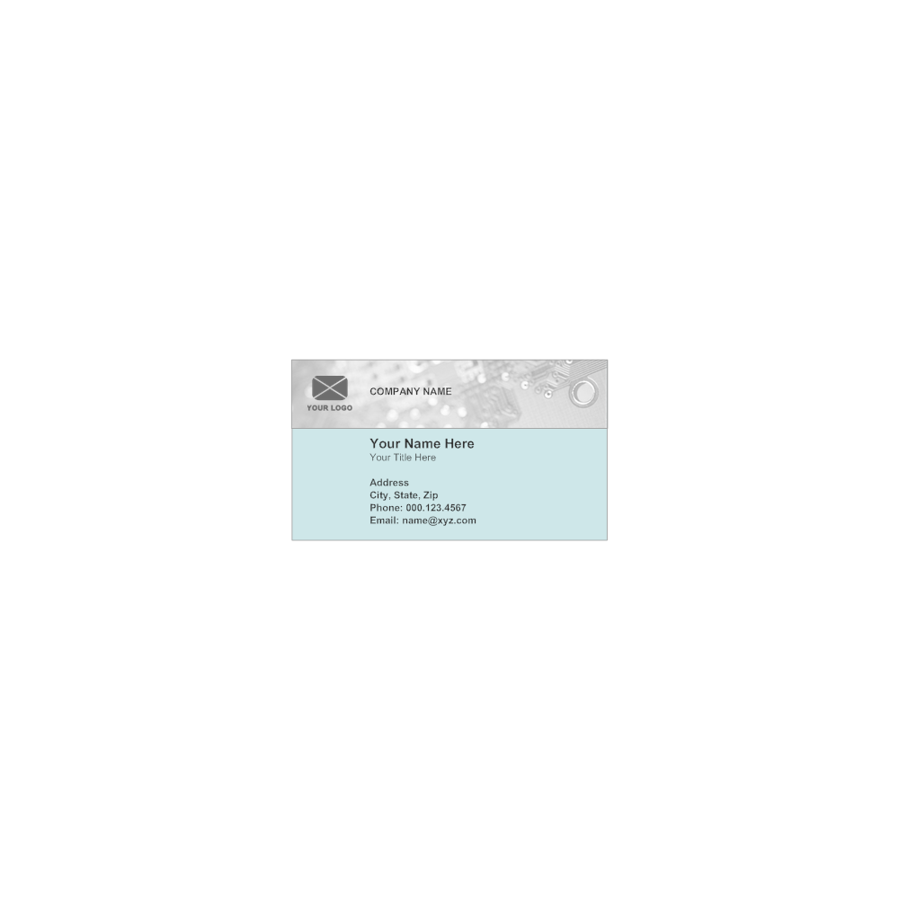 Example Image: Business Card Template
