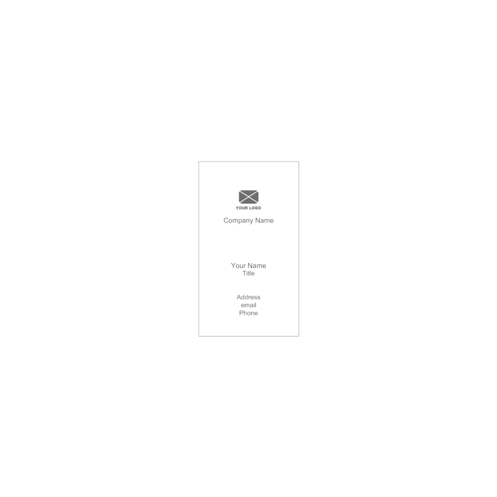 Example Image: Vertical Business Card