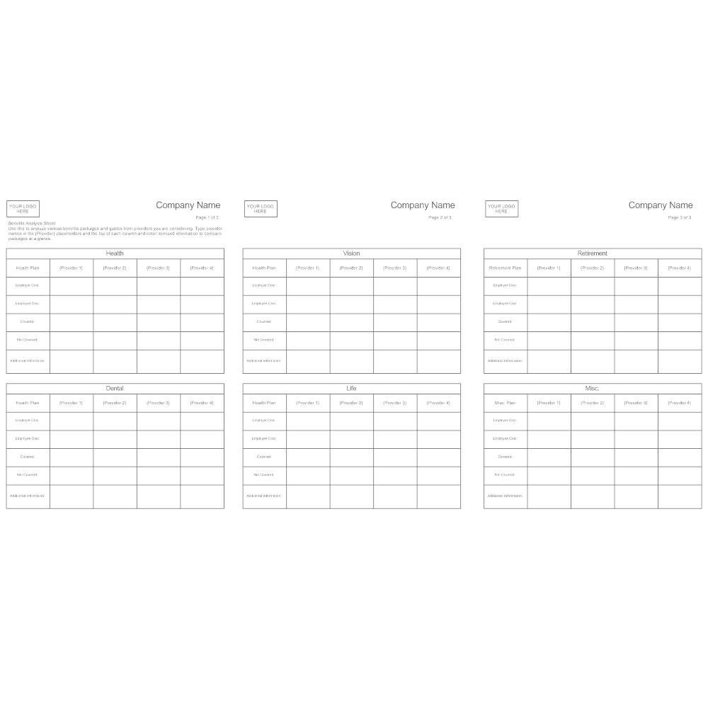 Example Image: Benefits Analysis Sheet