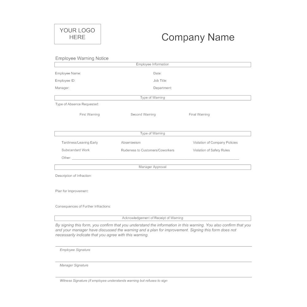 SmartDraw  Employee Information Form Sample