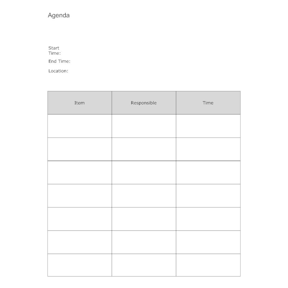 Meeting Agenda Form – Agenda Form