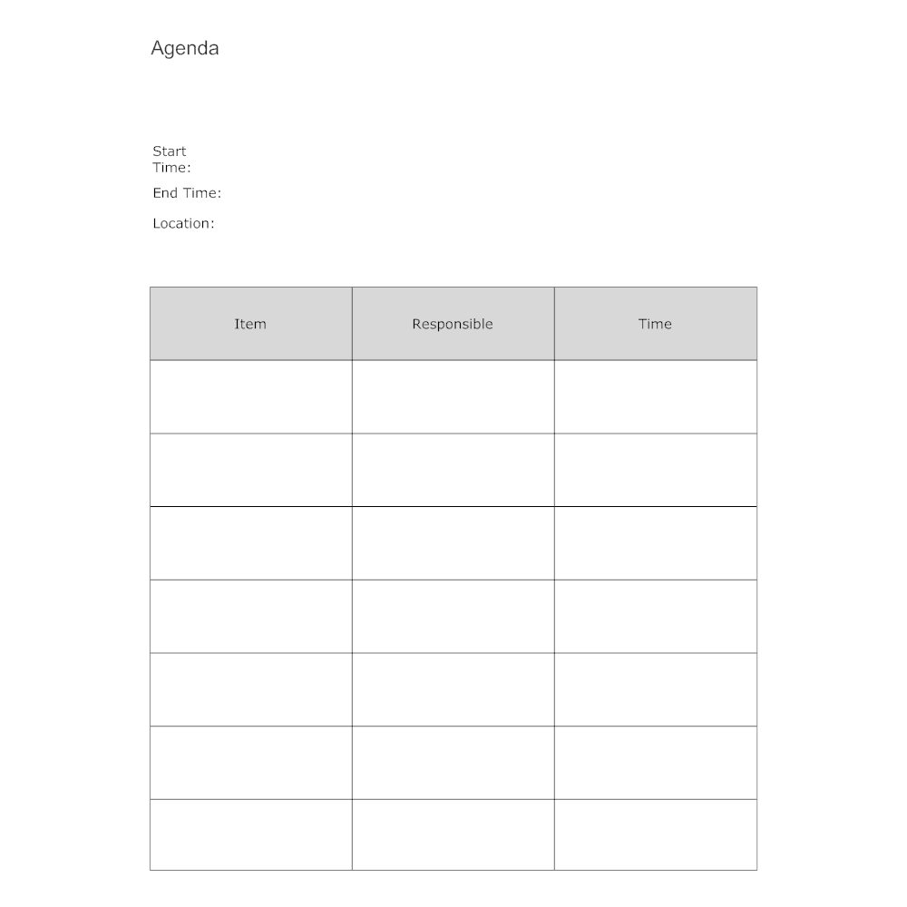 Example Image: Meeting Agenda Form