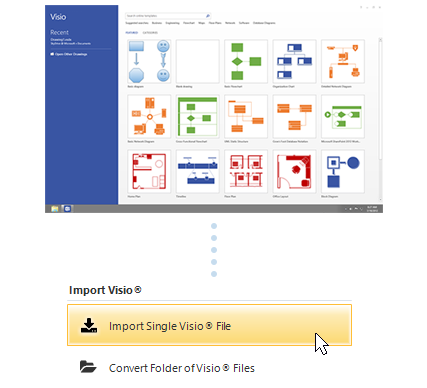 Rewritten and improved Visio import