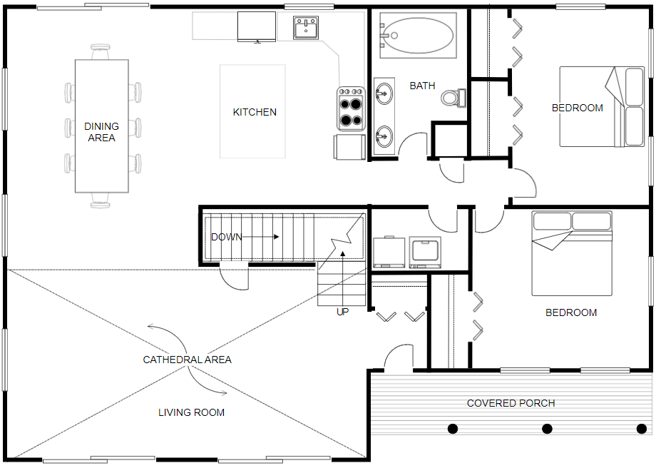 CAD or Computer Aided Design drawing of a floor plan