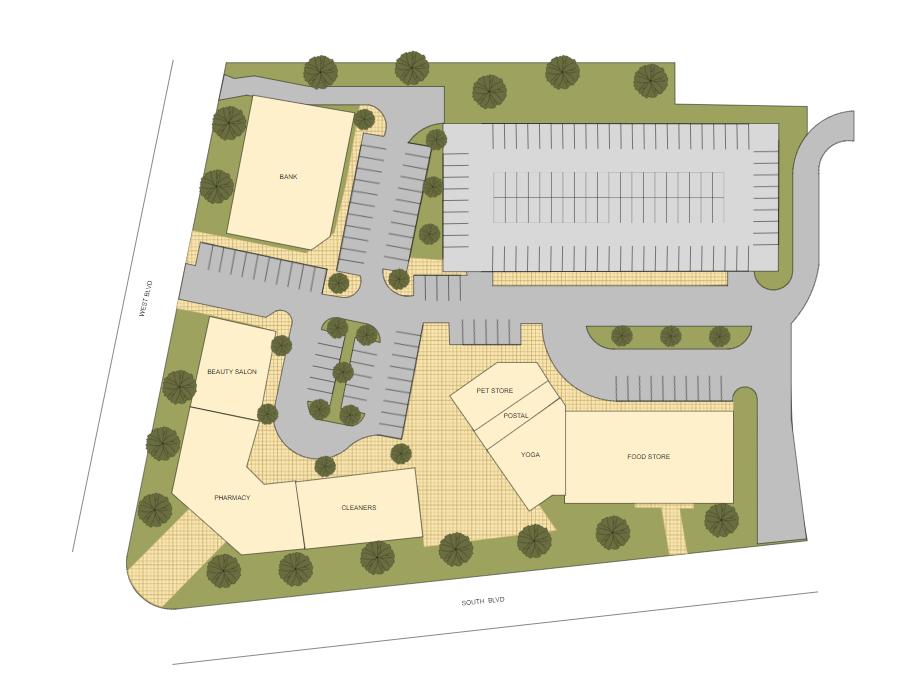 CAD site plan