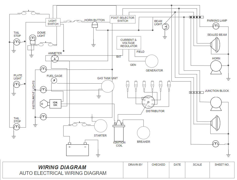 CAD electrical schematic