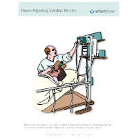 Nurse Adjusting Cardiac Monitor