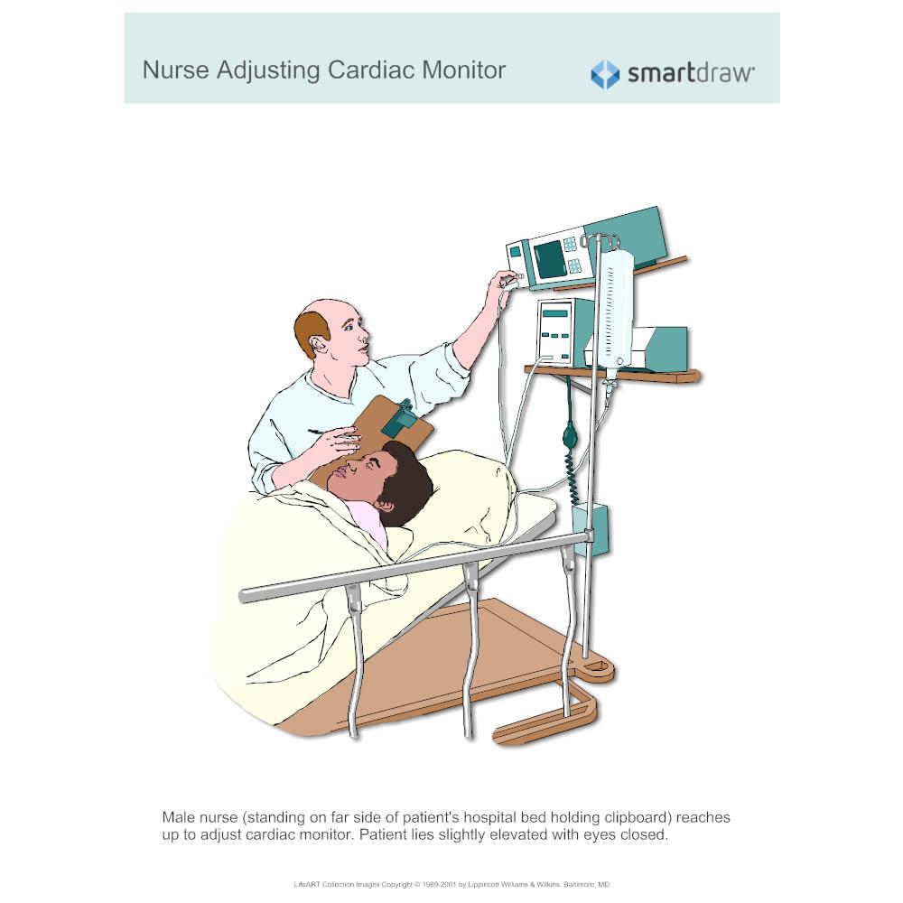 Example Image: Nurse Adjusting Cardiac Monitor