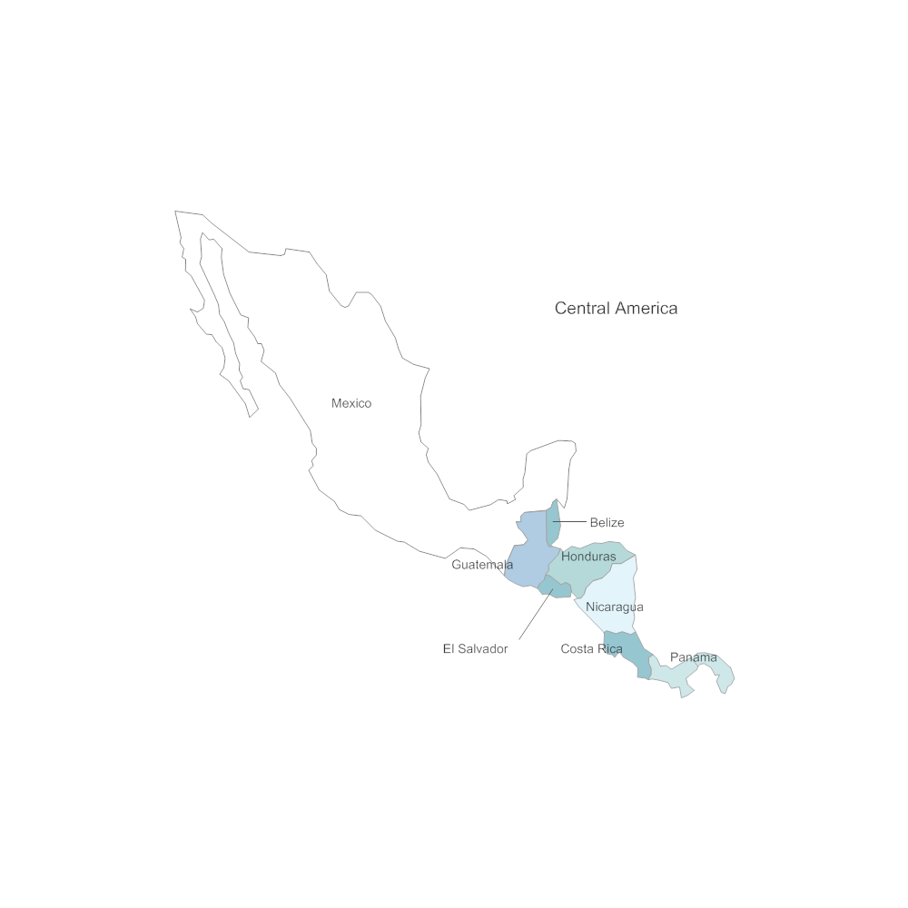 Example Image: Central America Map