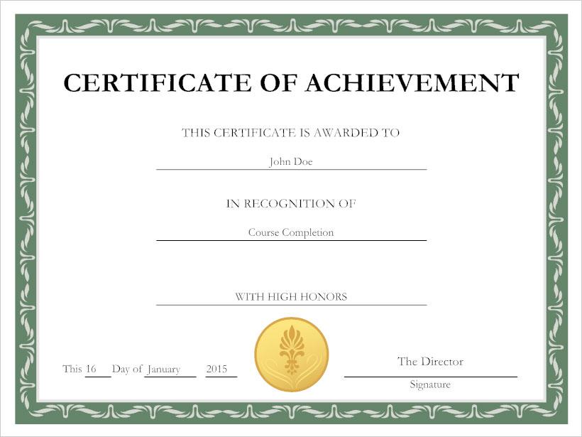Beautiful Certificate Example