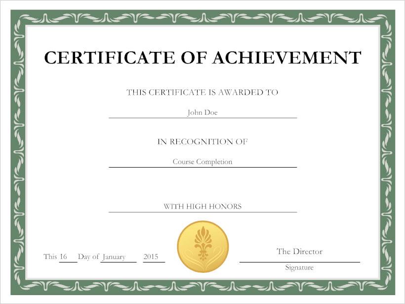 Certificate maker