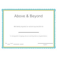 Above & Beyond Award