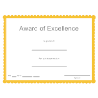 SmartDraw  Award Of Excellence Certificate Template